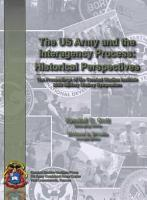 U  S  Army and the Interagency Process  Historical Perspectives PDF