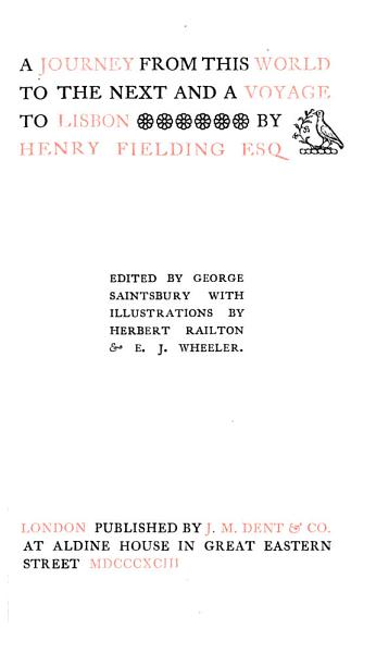 Download The Works of Henry Fielding  Miscellanies  1893 Book