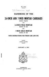 Handbook of the 3.8-inch Gun Matériel ...: January 19, 1917