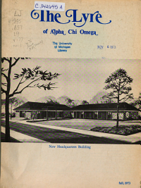 The Lyre of Alpha Chi Omega PDF