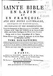 Sainte Bible en latin et en françois