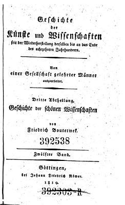 Geschichte Der Poesie Und Beredsamkeit Seit Dem Ende Des 13 Jh Fortgesetzt Von Eduard Brinckmeier