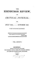 The Edinburgh Review, Or Critical Journal