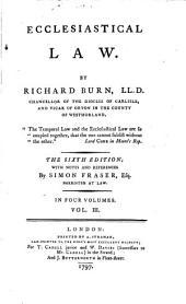 Ecclesiastical Law: Volume 2