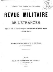 Revue militarie de l'étranger: Volume22