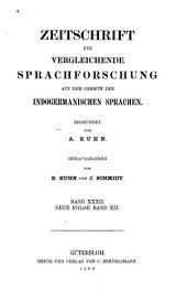 Zeitschrift für vergleichende Sprachforschung auf dem Gebiete der indogermanischen Sprachen: Band 32