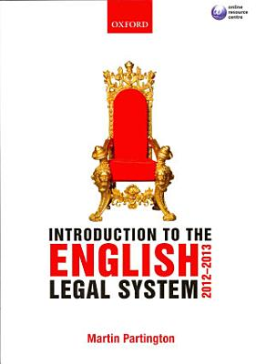Introduction to the English Legal System 2012 2013