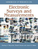 Handbook of Research on Electronic Surveys and Measurements PDF