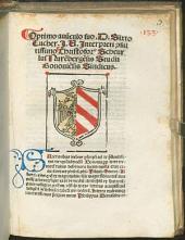 Opusculum Philippi Beroaldi de terraemotu et pestilentia
