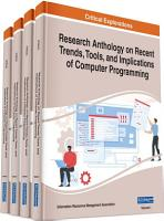 Research Anthology on Recent Trends  Tools  and Implications of Computer Programming PDF