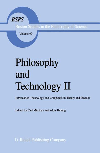 Philosophy and Technology II PDF