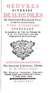 Sa traduction de L'art de peinture de C.A. Du Fresnoy avec des remarques & des corrections