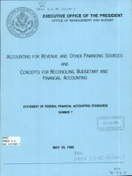 Accounting for Revenue and Other Financing Sources and Concepts for Reconciling Budgetary and Financial Accounting PDF