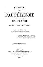 De l'état du paupérisme en France et des moyens d'y remédier
