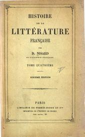 Histoire de la littérature française: Volume4
