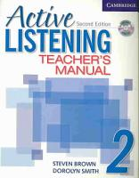 Active Listening 2 Teacher s Manual with Audio CD PDF