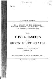 The Fossil Insects of the Green River Shales
