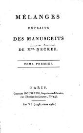 Mélanges: Volume 1