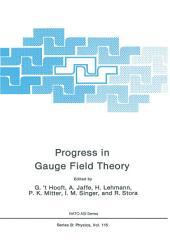 Progress in Gauge Field Theory