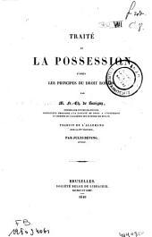 Traité de la possession d'après les principes du droit romain