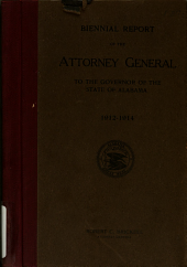 Biennial Report of the Attorney General to the Governor of the State of Alabama