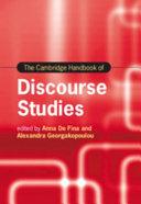The Cambridge Handbook of Discourse Studies PDF