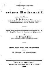 Vollständiger lehrkurs der reinen mathematik: Nach der vierten verbesserten und vermehrten original-ausgabe (1837) aus dem französischen übersetzt, Band 2