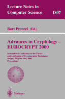 Advances in Cryptology – EUROCRYPT 2000