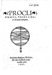 Proklou Sphaira, tōn tēs astrologias ephiemenōn charin epimelōs entymōtheisa