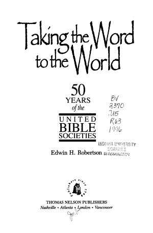 Taking the Word to the World PDF