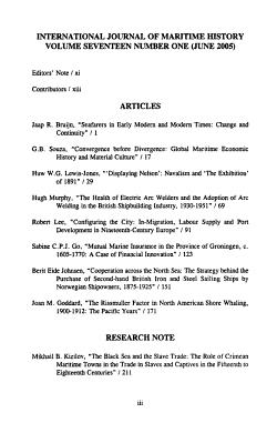 International Journal of Maritime History PDF