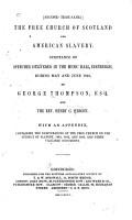 The Free Church of Scotland and American Slavery PDF