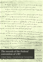 The Records of the Federal Convention of 1787: Issue 2