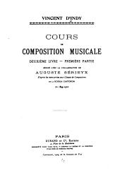 Cours de composition musicale: Volume2,Numéro1