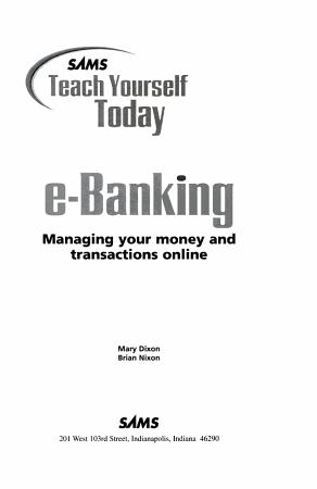 Sams Teach Yourself E Banking Today PDF