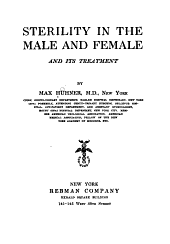 Sterility in the Male and Female and Its Treatment