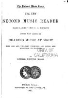 The New Second Music Reader PDF