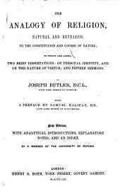 The Analogy of Religion ... A new edition, with an introductory essay, by Rev. Albert Barnes; and a complete index