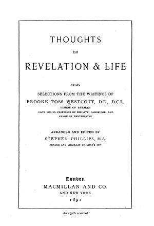 Thoughts on Revelation   Life