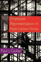 Employee Representation in Non union Firms PDF