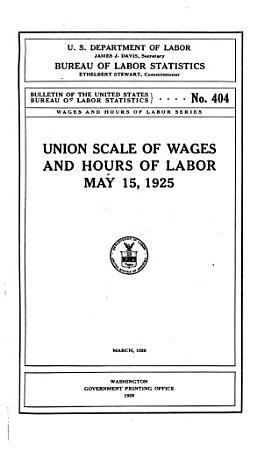 Bulletin of the United States Bureau of Labor Statistics PDF