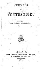 Œuvres de Montesquieu: L'Esprit des lois