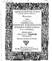 Quaestiorum juris controversi de cades sex