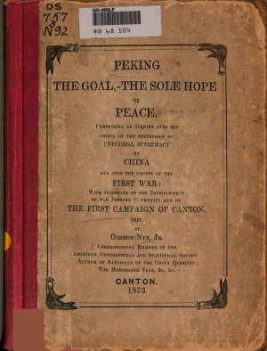 Peking the Goal   the Sole Hope of Peace PDF