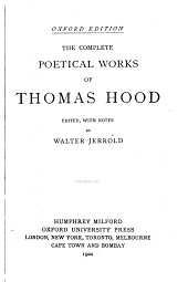 The Complete Poetical Works of Thomas Hood