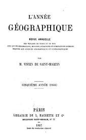 L'Année géographique: Volume5