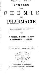 Annalen der Chemie und Pharmacie: Bände 83-84;Bände 157-160