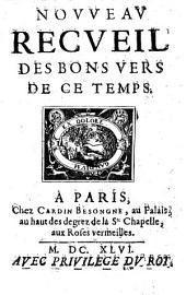 Nouveau Recueil des bons vers de ce temps (publ. par Du-Pelletier)