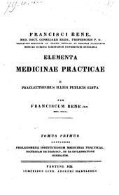 Tomus Primus Continens Prolegomena Institutionum Medicinae Practicae, Doctrinam De Febribus, Et De Inflammatione Generatim: 1