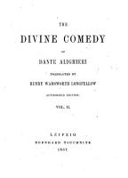 The Divine Comedy of Dante Alighieri  Translated by Henry Wadsworth Longfellow PDF